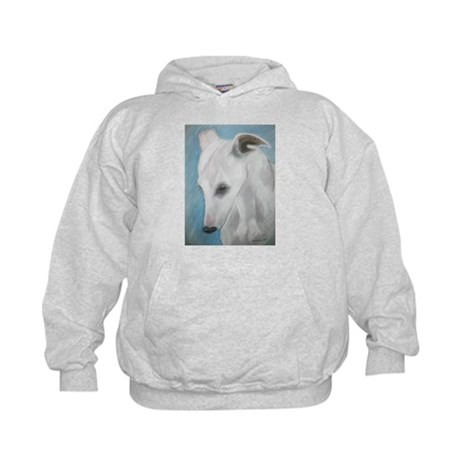 Blues a Whippet Kids Hoodie