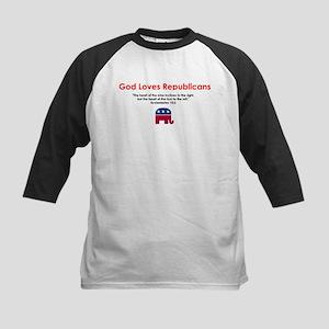 God Loves Republicans Kids Baseball Jersey