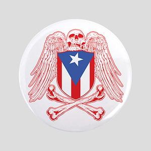 """Puerto Rico Crossbones 3.5"""" Button"""