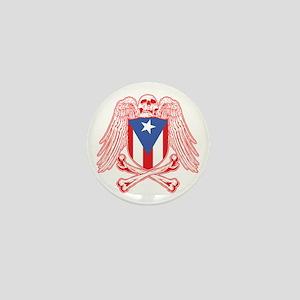 Puerto Rico Crossbones Mini Button