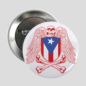 """Puerto Rico Crossbones 2.25"""" Button"""