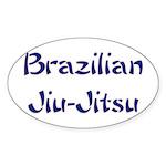 Brazilian Jiu-Jitsu Oval Sticker