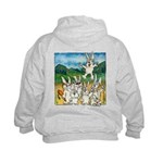 Cartoon Rabbits Kids Hoodie