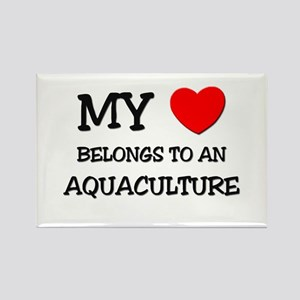 My Heart Belongs To An AQUACULTURE Rectangle Magne