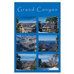 Grand Canyon Collage Large Poster