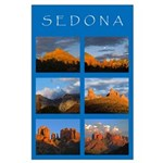 Glowing Sedona Collage Large Poster