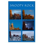 Snoopy Rock Collage Large Poster