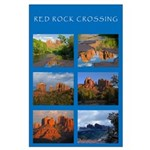 Red Rock Crossing Collage Large Poster