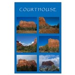 Courthouse Butte Collage Large Poster