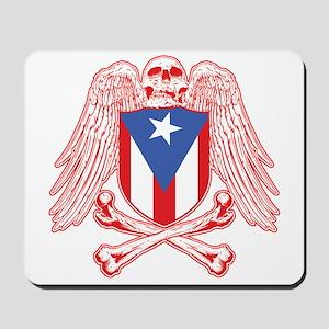 Puerto Rico Crossbones Mousepad
