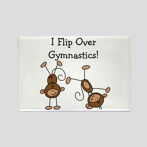 Flip Over Gymnastics Rectangle Magnet