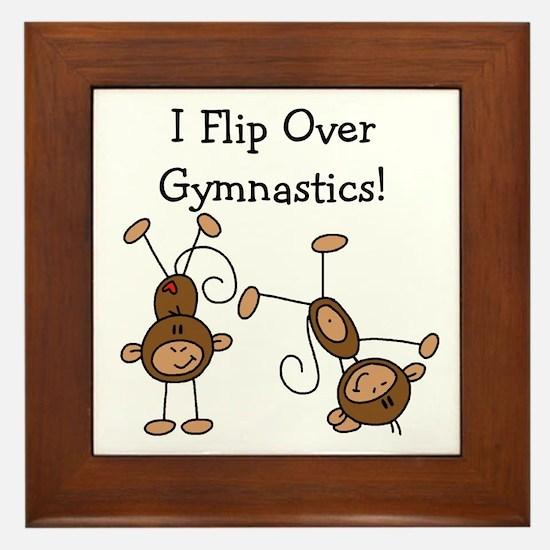 Flip Over Gymnastics Framed Tile