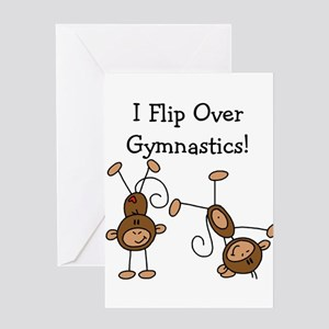 Flip Over Gymnastics Greeting Card