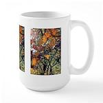 Large Mug - Orange Leaves #1 (3)