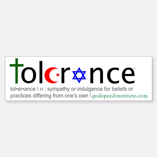 Tolerance Bumper Bumper Bumper Sticker