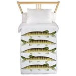 Muskellunge Twin Duvet Cover