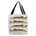 Muskellunge Polyester Tote Bag