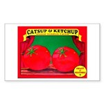 Produce Sideshow: Catsup Rectangle Sticker