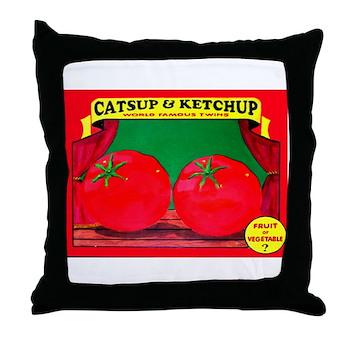 Produce Sideshow: Catsup Throw Pillow