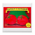 Produce Sideshow: Catsup Tile Coaster