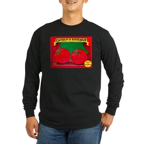 Produce Sideshow: Catsup Long Sleeve Dark T-Shirt