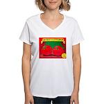 Produce Sideshow: Catsup Women's V-Neck T-Shirt