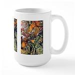 Large Mug  - Orange Leaves - 3 Images