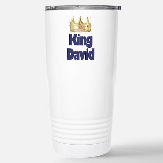 King David Stainless Steel Travel Mug