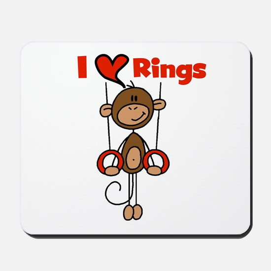 Love Rings Gymnast Mousepad
