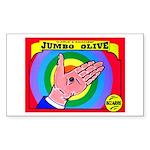 Produce Sideshow: Jumbo Olive Rectangle Sticker