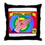 Produce Sideshow: Jumbo Olive Throw Pillow