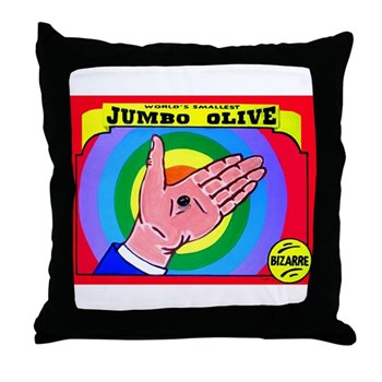 Produce Sideshow: Jumbo Olive Throw Pillow