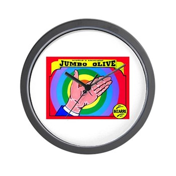Produce Sideshow: Jumbo Olive Wall Clock