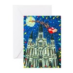 Plain New Orleans Cathedral Christmas Cards
