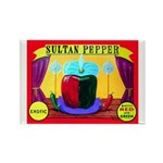 Produce Sideshow: Pepper Rectangle Magnet