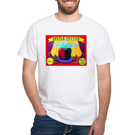 Produce Sideshow: Pepper White T-Shirt