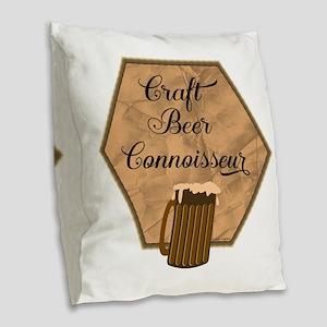 Craft Beer Connoisseur Burlap Throw Pillow