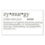 Zymurgy Definition Rectangle Sticker
