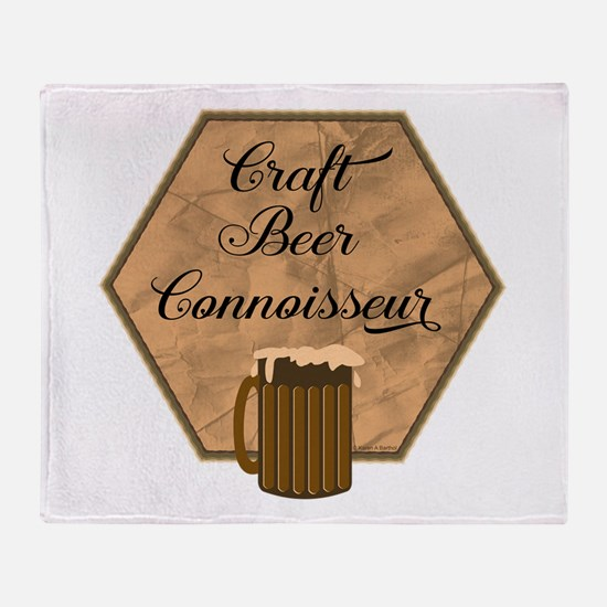 Craft Beer Connoisseur Throw Blanket