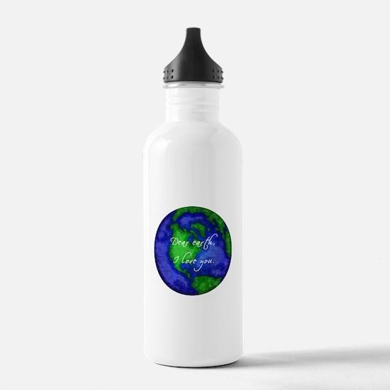 Dear Earth, I Love You Water Bottle