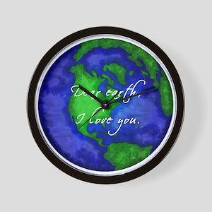 Dear Earth, I Love You Wall Clock