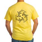 Hammerhead Sharks Logo Yellow T-Shirt