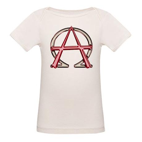 Alpha & Omega Anarchy Symbol Organic Baby T-Shirt