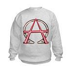Alpha & Omega Anarchy Symbol Kids Sweatshirt