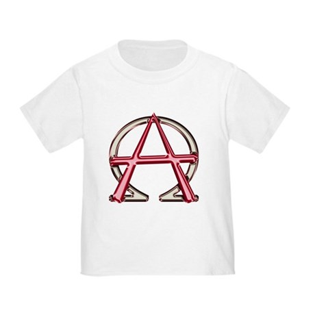 Alpha & Omega Anarchy Symbol Toddler T-Shir