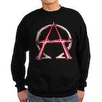Alpha & Omega Anarchy Symbol Sweatshirt (dark)