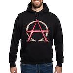 Alpha & Omega Anarchy Symbol Hoodie (dark)