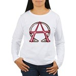 Alpha & Omega Anarchy Symbol Women's Long Sleeve T