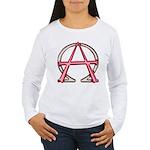 Alpha & Omega Anarchy Symbol Women's Long Sleeve T