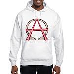 Alpha & Omega Anarchy Symbol Hooded Sweatshirt
